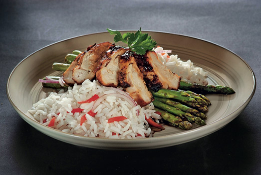 Honey Glazed Chicken with Asparagus